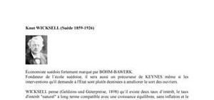 Biographie de l'économiste Knut Wicksell