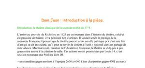 Dom Juan de Molière - Introduction à la pièce