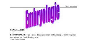 Notions d'embryologie