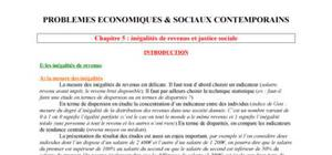Les inégalités de revenus et justice sociale