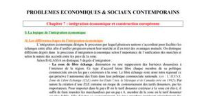 L'ntégration économique et construction européenne