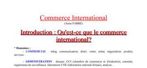 Tout sur le commerce international
