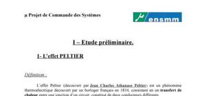 Le module à effet Peltier