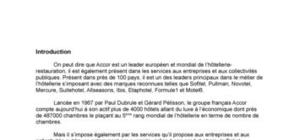 Analyse interne du groupe Accor