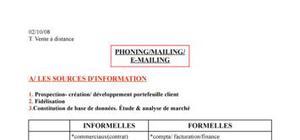 Phoning / Mailing / E-mailing