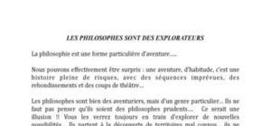 L'aventure philosophique: pourquoi les philosophes sont-ils des explorateurs?