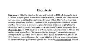 Qui est Eddy Harris ?
