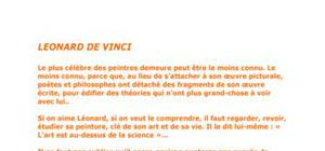 """""""Léonard de Vinci"""" par Sandys"""