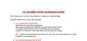 les sociétés civiles SCP ET SCM