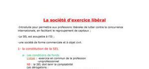 La société d'exercice libérale