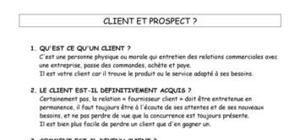 Le contact client