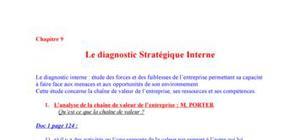 Le diagnostic stratégique interne