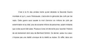 Roman : Le Liseur