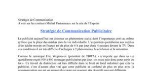 La stratégie de Communication Publicitaire