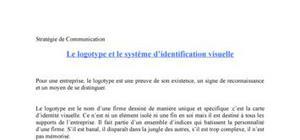 Le logotype et le système d'identification visuelle