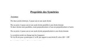 Propriétés des symétries