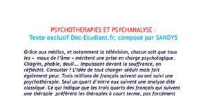 Psychothérapies et psychanalayse