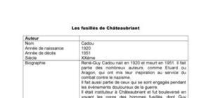 Les fusillés de Châteaubriant, de Cadou