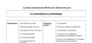 Comportement difficile - Le contradicteur