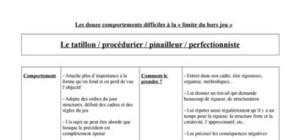 Comportement difficile - Le tatillon