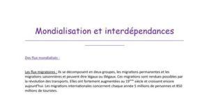 Mondialisation et interdépendances