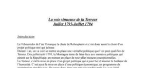 La révolution française: la terreur