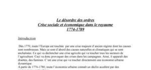 Crise sociale et éco dans le royaume de france : 1774-1789