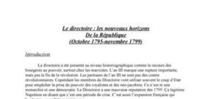 la révolution française: le directoire