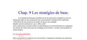 Stratégie de base