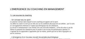 L'emergence du coaching en management