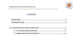 projet découverte des techniques bancaires