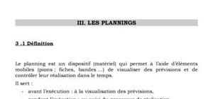 Conception des plannings