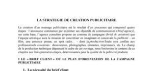 la strategie de création publicitaire