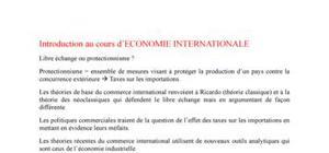 Economie internationnale