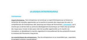 La logique entrepreneuriale