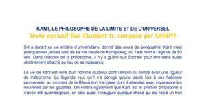 Kant, le philosophe de la limite et de l'universel