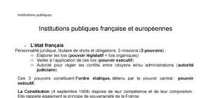 Institutions publiques françaises et européennes