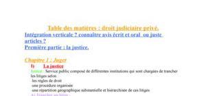 droit judiciaires