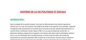 Histoire politique et sociale