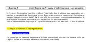 Chapitre 2 : contribution du SI