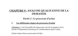 Analyse qualitative de la demande