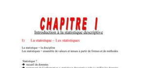 Introduction à la statistique descriptive