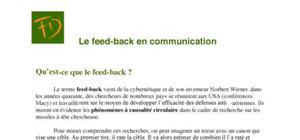 Le feed-back en communication