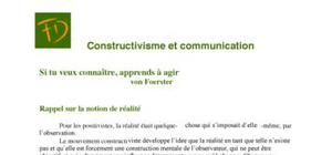 Constructivisme et communication