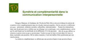 Symétrie et complémentarité dans la communication interpersonnelle