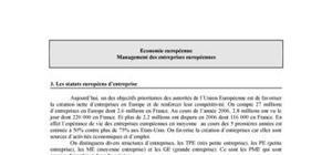 Les statuts européens d'entreprise