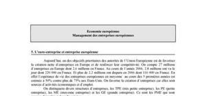 L'euro-entreprise et entreprise européenne
