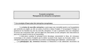 Les stratégies d'innovation des entreprises européennes