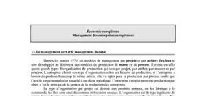 Le management vert et le management durable