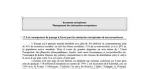 Les conséquences du passage à l'euro pour les entreprises européennes et non-européennes